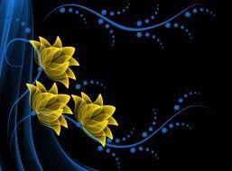 векторная графика, цветы, неоновые, background, vector, flowers, neon