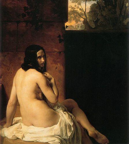 """""""Susanna al bagno"""", Francesco Hayez, 1850; olio su tela, 135x120 cm; è esposto alla National Gallery di Londra."""