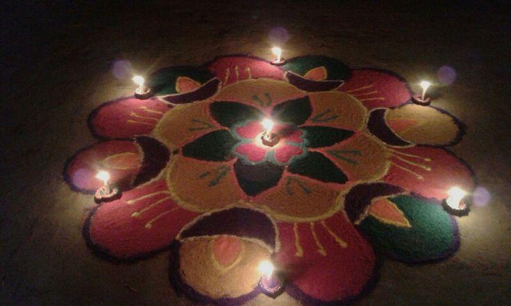 #rangoli#diwali#P.C-#madhulika mishra