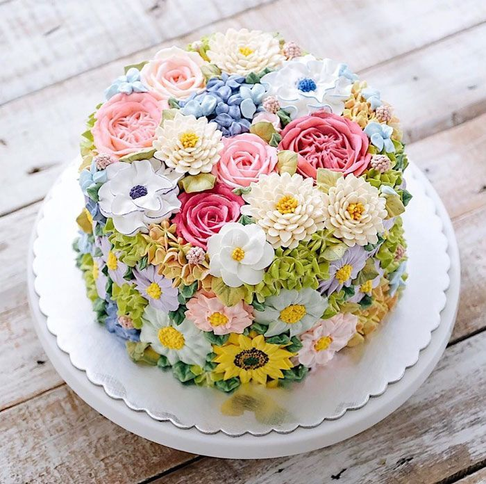 Cake Decorating Icing For Flowers : 25+ best ideas about Flower Cakes on Pinterest Frosting ...