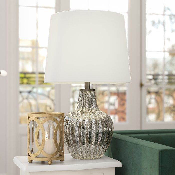 Mccullough Glass And Metal 25 Table Lamp Lamp Farmhouse Table Lamps Silver Table Lamps