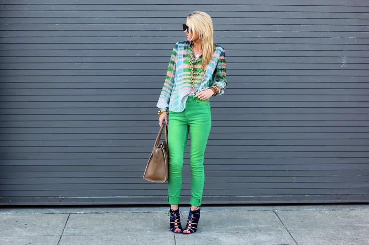 colored jeans done right!