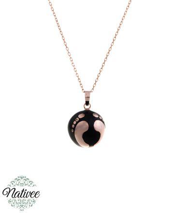 Collier bola de grossesse hermosa or rose