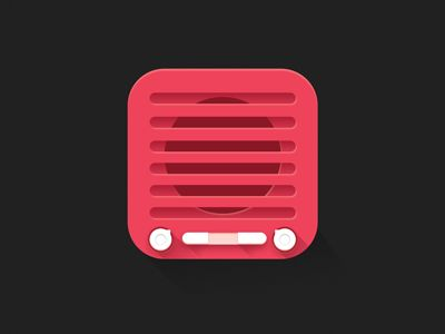 Radio Icon by Matthew Herald