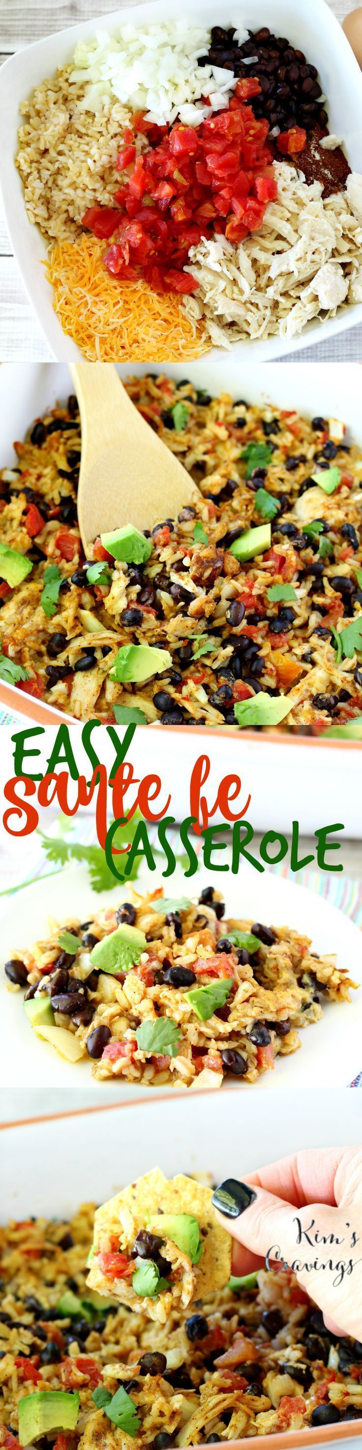 Hands down, the easiest, most flavorful, crowd-pleasing dish- this Santa Fe Casserole will have you in and out of the kitchen in a flash! #YesYouCan [ad]