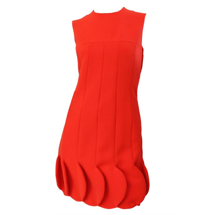 60s Vintage Pierre Cardin Orange Bubble Dress (via @1stdibs):