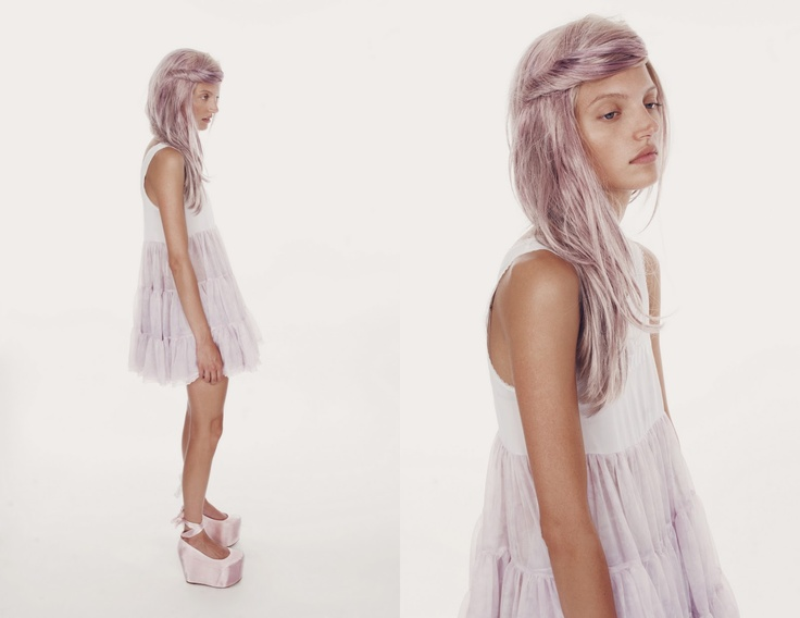 Light purple hair??? Those hot shoes??! Ummmm ok