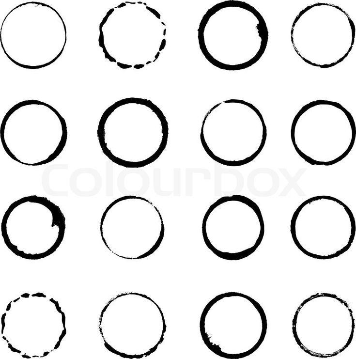 Stock-Vektor von 'Vektor festgelegt Grunge Kreis Pinselstriche für frames'