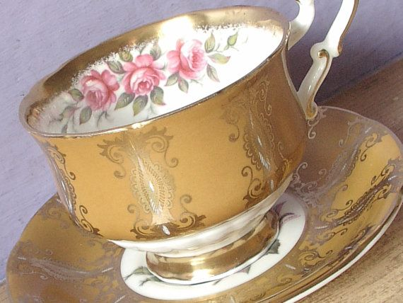 Vintage Mid Century English tea cup and saucer by ShoponSherman,