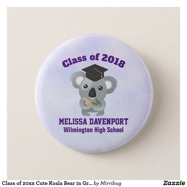 Class of 20xx Cute Koala Bear in Graduation Cap