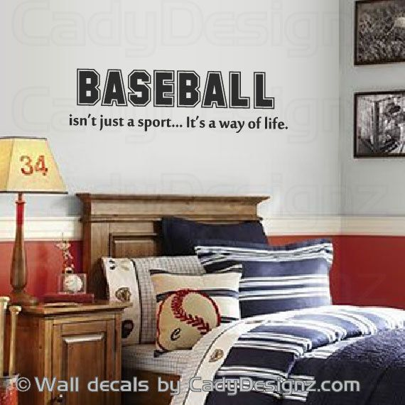 Baseball Vinyl Wall Decal