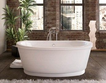 Freestanding Tub With Air Jets BainUltra Amma bath tub