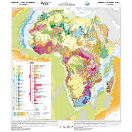 Carte géologique de l'Afrique au 10 millionième
