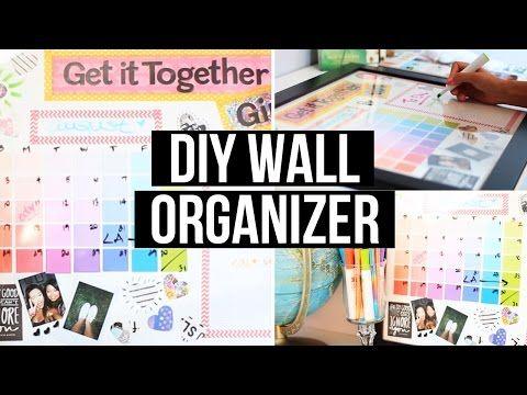 DIY Wall Organizer & Back 2 School Giveaway!   LaurDIY - YouTube