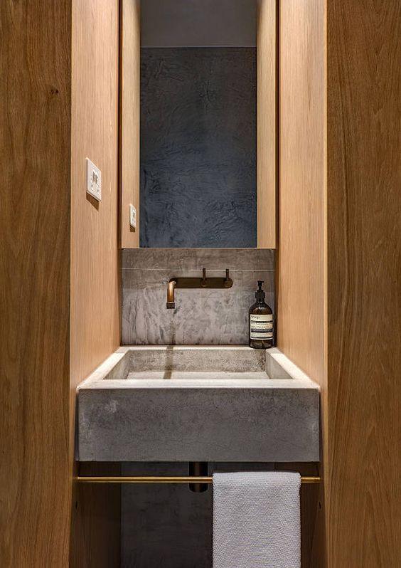 Awesome idea for a sink! | Bathroom remodel | architecture | interior design | modern art | modern | beautiful | #metalwallart #interiordesign https://www.statements2000.com/