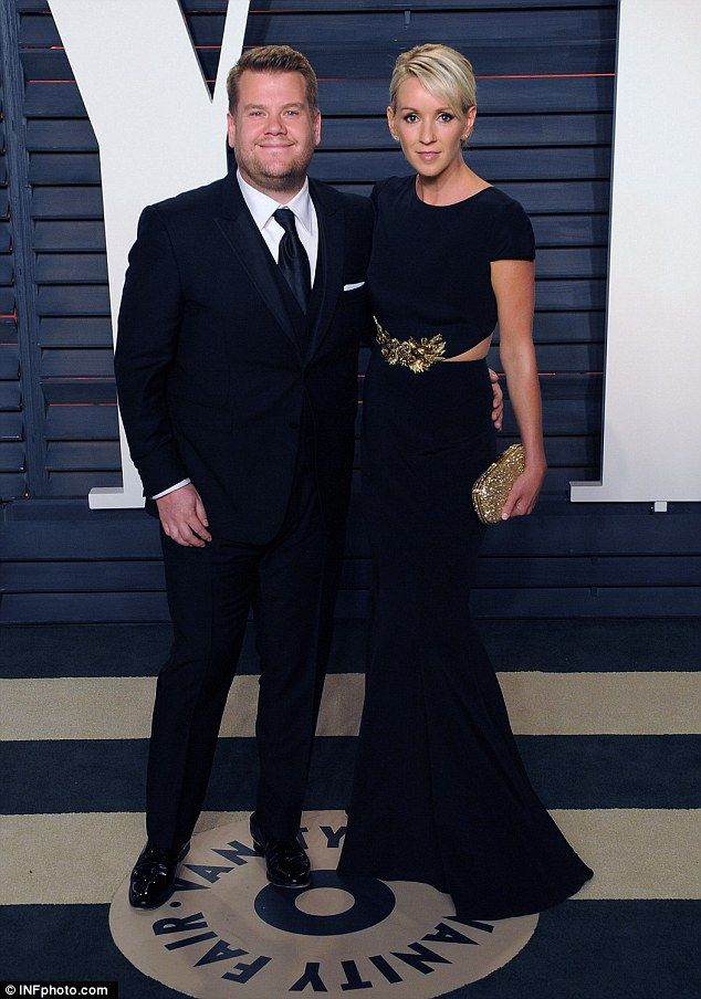 Stylish couple: James Corden and his beautiful wife Julia Carey made sure they were dresse...