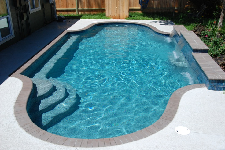 Modified Gothic Pool Shape Pool Only With Custom Pebble Interior Featuring Additional Abalone