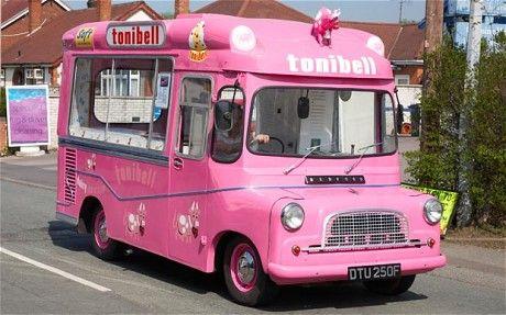 ice cream van Toni Bell  with cow