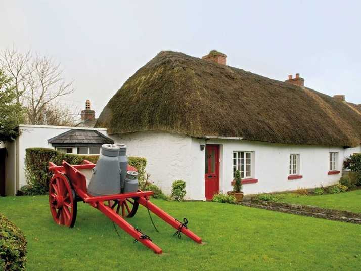 I adore Irish cottages with thatching