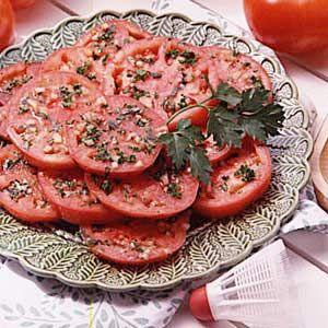 Tasty Marinated Tomatoes Recipe | Taste of Home Recipes
