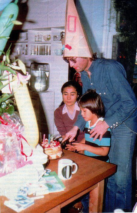 October 9, 1980: Birthday cake celebrating John's 40 and Sean's 5.