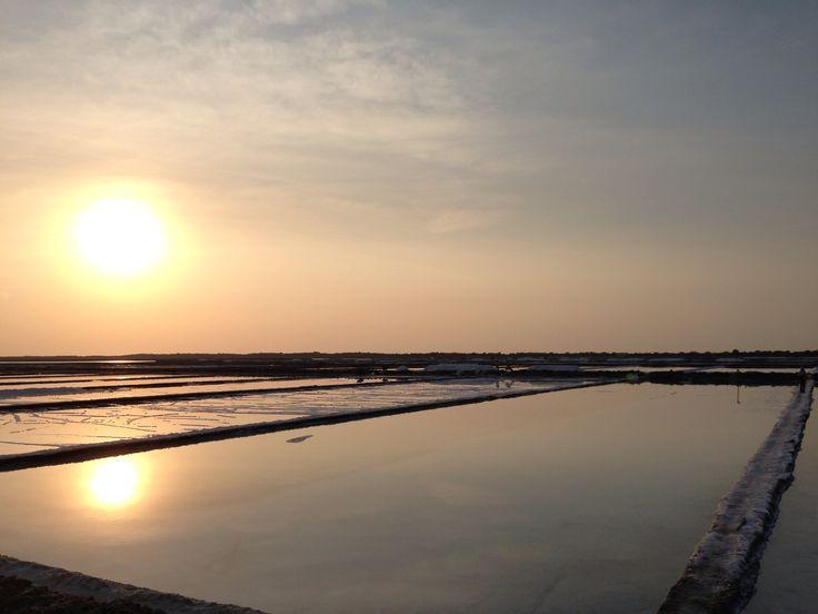 Salt farm , Madura , Indonesia