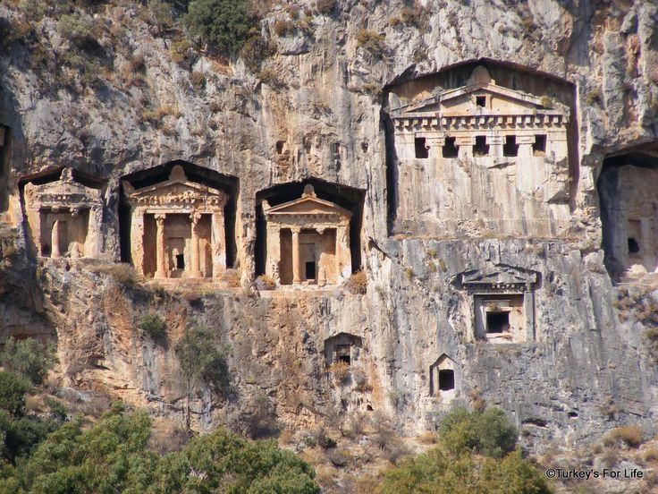 Rock Tombs, Fethiye, Turkey