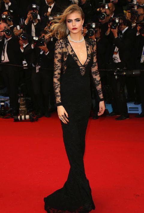 Beautiful in Black Cara is striking once more