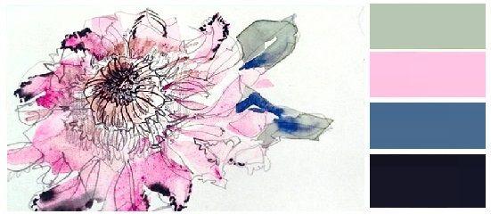 Συνδυασμοι Χρωματων Αρμονικές Αντιθέσεις Γκρι Ροζ Μπλε