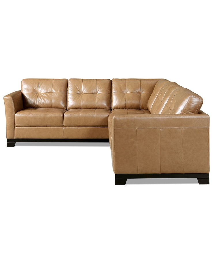 Martino Leather Sectional Sofa, 2 Piece (Sofa and ...
