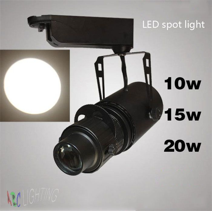 Industrial led zoom track lights LED logo spotlights 10W 15W 20W Museum Events Show Exhibition Gallery store ceiling Spot lamp