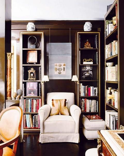 22 beautiful home library design ideas for large rooms and small spaces beautiful home - Small bookcases for small spaces design ...