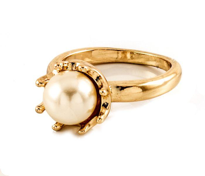 Bizsu Gyűrűk Opika arany gyöngyház