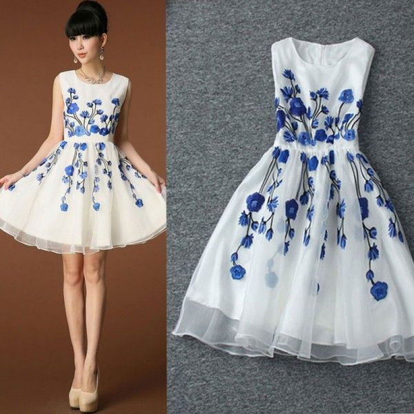 Cool! New Nice Unique Embroidery Peach Flower Party Dress  Vest Dress just $84 from ByGoods.com! I can't wait to get it!