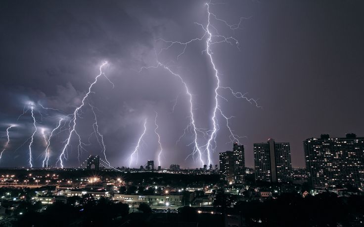 Lighting Storm City
