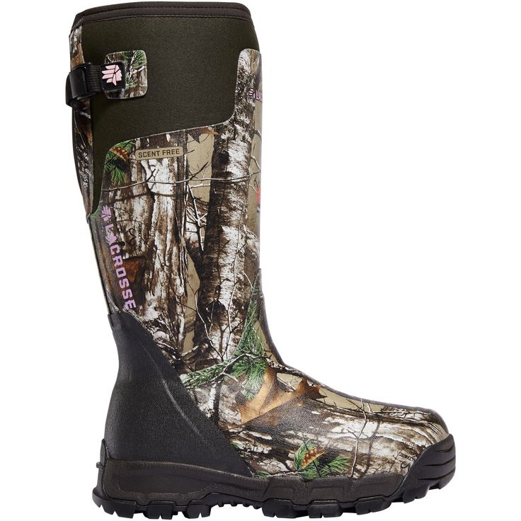 Enhance your comfort and style when hunting wearing these knee-hight boots with Thinsulate ultra insulation. These premium hunting boots feature a scent-free rubber construction and thick cushioning f
