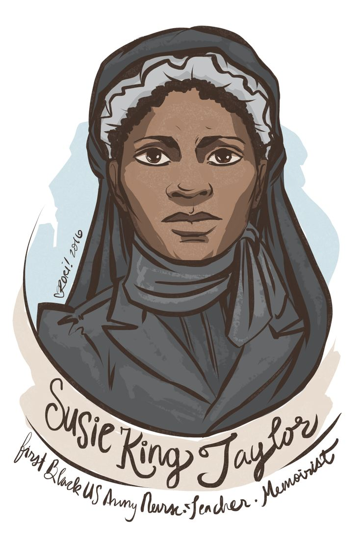 #100Days100Women Day 37: Susie Baker (King Taylor)  Born enslaved in the US South but was clandestinely taught to read and write, later fled to occupied Union territory to teach children and adults to read, including the soldiers of her husband's regiment. She published a memoir of her experience during the war, the only civil war memoir published by a black woman.  https://en.wikipedia.org/wiki/Susie_Taylor