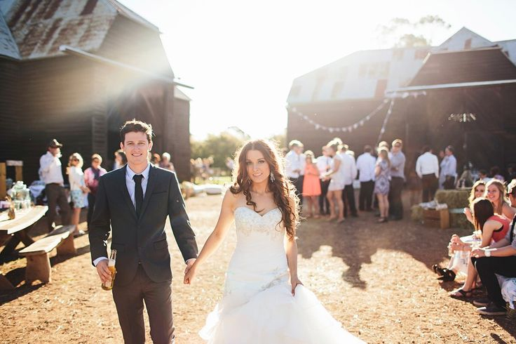 A beautiful rustic barn wedding venue in Tasmania, near Longford in country Australia. Photo - Michelle Dupont