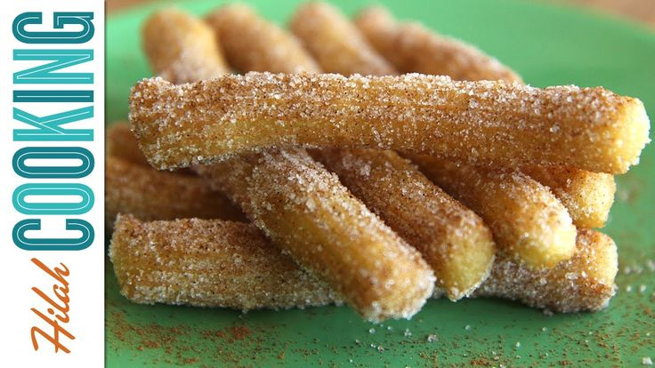 Mexican churros recipe - fried donuts rolled in cinnamon-sugar