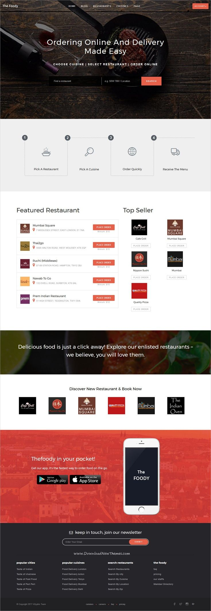 TheFoody is a wonderful responsive #WordPress Template for #restaurant, #food ordering & #delivery system websites like FoodPanda, JustEat, Zomato, Grubhub, Eat24Hours, delivery.com, DoorDash etc download now➩ https://themeforest.net/item/thefoody-multivendor-multiple-restaurant-wordpress-theme/19256256?ref=Datasata