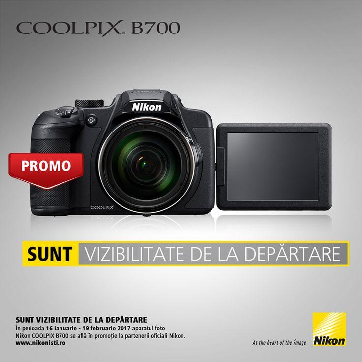 In perioada 16 ianuarie - 19 februarie 2017 aparatul foto NIKON COOLPIX B700 se afla in promotie la partenerii oficiali Nikon