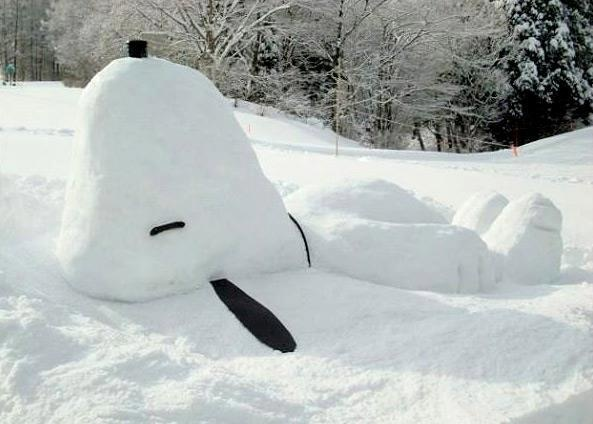 Snoopy snowman-have to do this!!!!