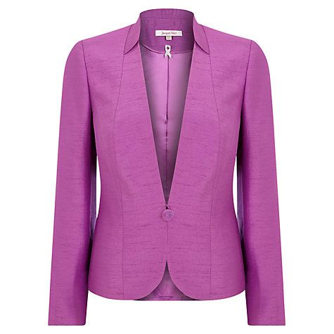Buy Jacques Vert Occasion Jacket, Iris Online at johnlewis.com