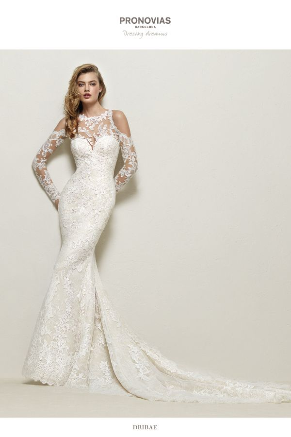 La carriere jersey wedding dresses