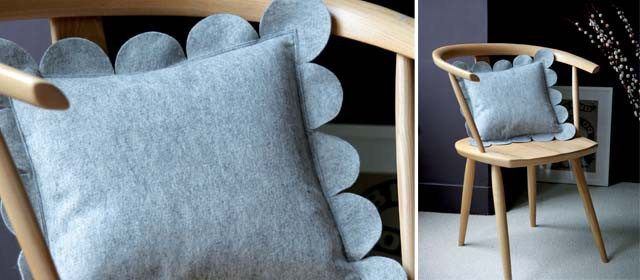 Felt Scallop Pillow - Sewtorial