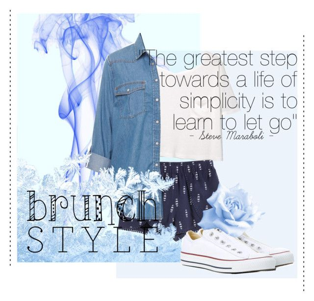 """""""Untitled #4"""" by gorgeousmofo on Polyvore featuring MANGO and Converse"""