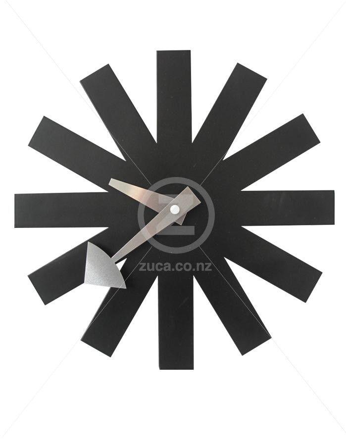 Replica George Nelson Asterisk Wall Clock - Black | ZUCA | Homeware, Chairs…