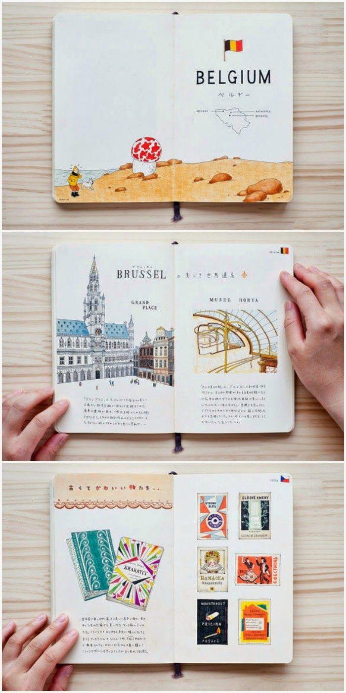 Diário de viagens de Bruxelas. Lindo! só não sei como se pode fazer uma coisa assim.