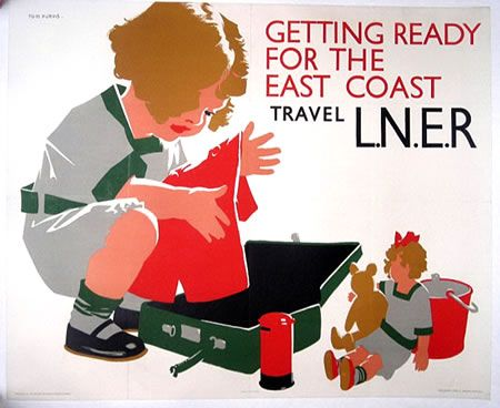 Tom Purvis - Getting Ready for the East Coast-L.N.E.R. c. 1925 50 in. x 40 in.