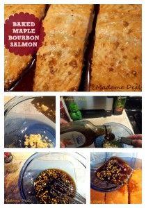 Baked Maple Bourbon Salmon Recipe